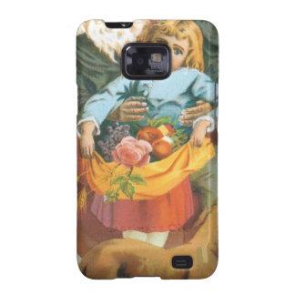 Santa Claus, Girl and Dog Samsung Galaxy S2 Covers