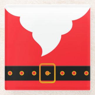 Santa Claus Glass Coaster