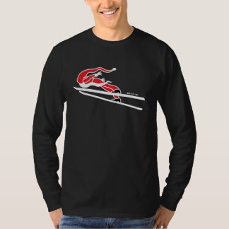 Santa Claus Goes Ski Jumping T-Shirt