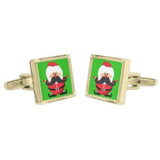 Santa Claus Gold Cufflinks