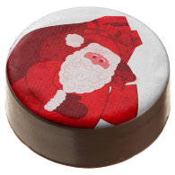 Santa Claus graphic art Christmas holiday oreos Chocolate Covered Oreo