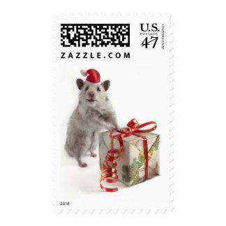 Santa Claus Hamster With Gift Postage