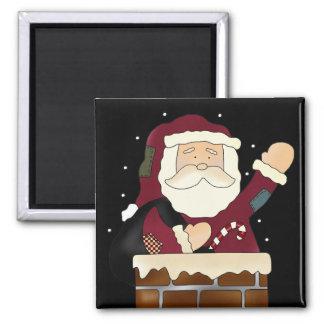 Santa Claus Happy Holidays 2 Inch Square Magnet