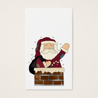 Santa Claus Happy Holidays Business Card