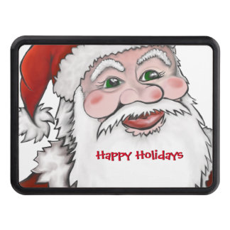 Santa Claus Happy Holidays Hitch Cover