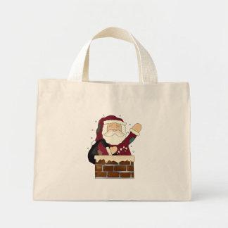 Santa Claus Happy Holidays Mini Tote Bag
