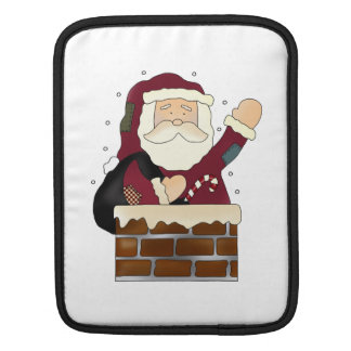Santa Claus Happy Holidays Sleeve For iPads