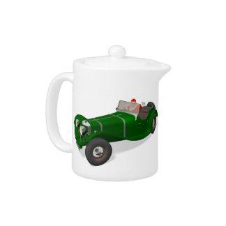 Santa Claus Happy Jaguar SS 90 Driver Teapot