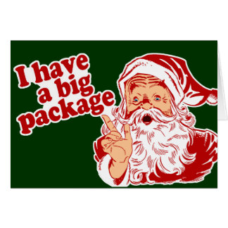 Santa Claus has a big package Cards