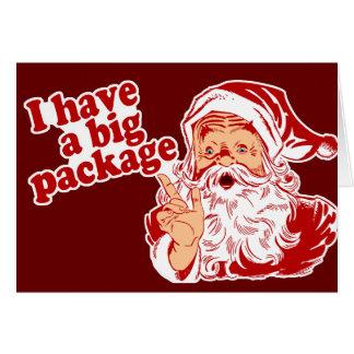 Santa Claus has a big package Greeting Card