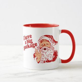 Santa Claus Has a Big Package Mug
