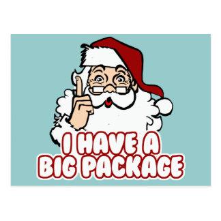 Santa Claus Has A Big Package Postcard