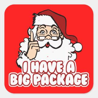 Santa Claus Has A Big Package Square Sticker