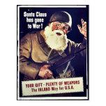 Santa Claus Has Gone To War Postcard