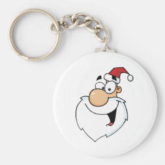 Santa Claus Head Keychain