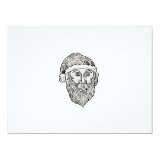 Santa Claus Head Mandala Card