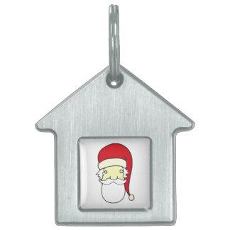 Santa Claus head Pet ID Tag