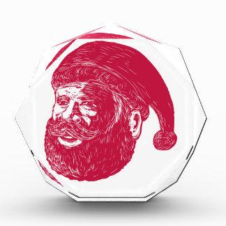Santa Claus Head Woodcut Award