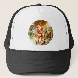 Santa Claus & His Elves at His North Pole Stables Trucker Hat