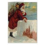 Santa Claus & His Reindeer Cards