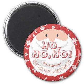 Santa Claus Ho Ho Christmas Happy New Year Holiday Magnet