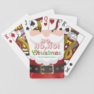 Santa Claus Ho Ho Christmas Happy New Year Holiday Playing Cards