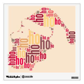Santa Claus Ho Ho Ho Word Cloud Wall Sticker