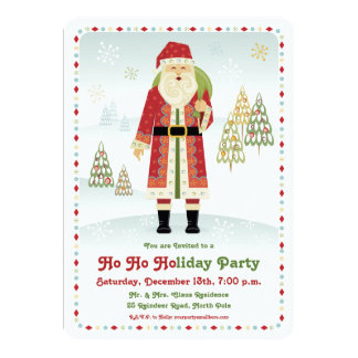 Santa Claus Holiday Party Invitation