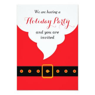 Santa Claus holidays party Card