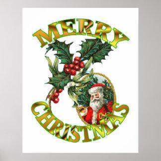 Santa Claus Holly 24x30 Poster