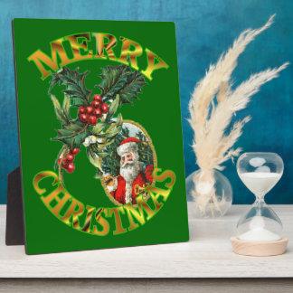 Santa Claus Holly 8X10 Plaque