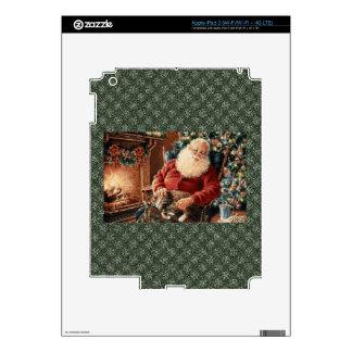 Santa Claus Holydays Christmas Bells red green iPad 3 Skins