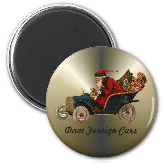 Santa Claus Humor 2 Inch Round Magnet