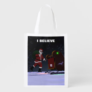 Santa Claus - I Believe Grocery Bag