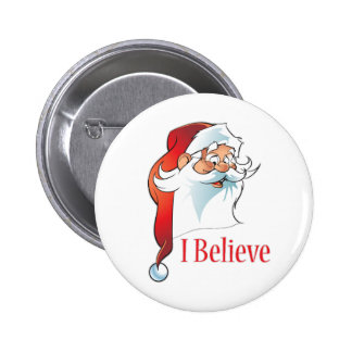 Santa Claus. I Believe. Pinback Button