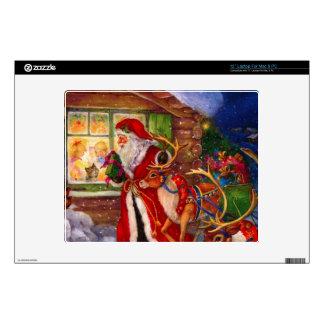 "Santa claus illustration - christmas illustrations decals for 12"" laptops"