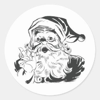 Santa Claus Illustration Classic Round Sticker