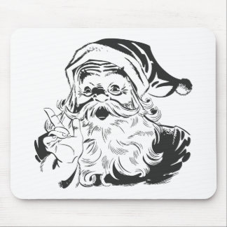 Santa Claus Illustration Mouse Pad