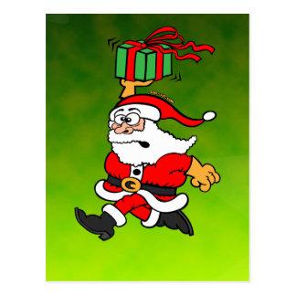 Santa Claus in a Hurry Postcard