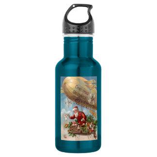 Santa Claus in Airship 18oz Water Bottle