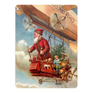 Santa Claus in Airship 2 Card