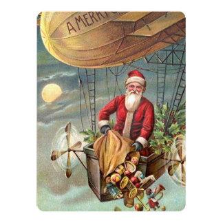 Santa Claus in Airship 3 Card