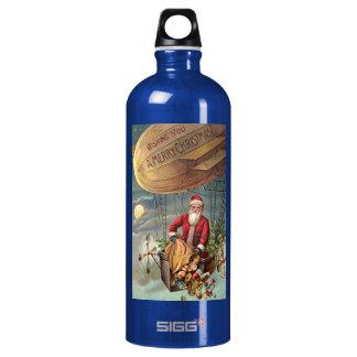 Santa Claus in Airship 3 SIGG Traveler 1.0L Water Bottle