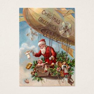 Santa Claus in Airship Business Card