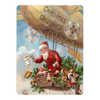 Santa Claus in Airship Card
