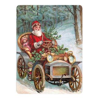 Santa Claus in Automobile Card