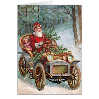 Vintage Christmas Automobiles Greeting Cards | Zazzle
