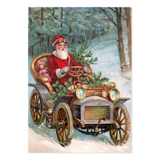Santa Claus in Automobile Large Business Card