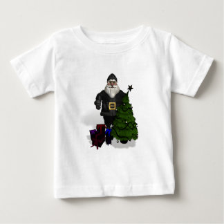 Santa Claus In Black Leather Baby T-Shirt
