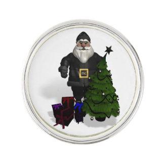 Santa Claus In Black Leather Dress